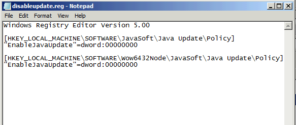 Java Auto Updater Remover