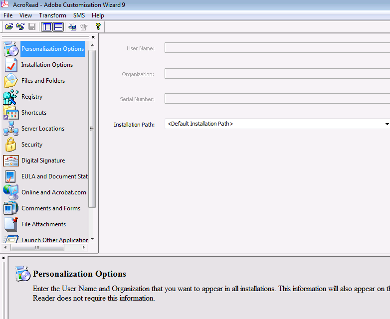 Modify and automate the installation of Adobe Reader for MDT, SCCM