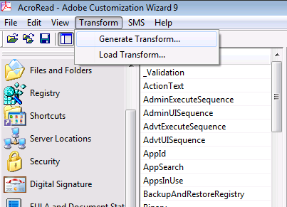 Modify and automate the installation of Adobe Reader for MDT